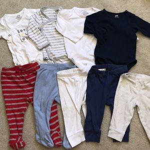 Baby boy onesies and pants bundle